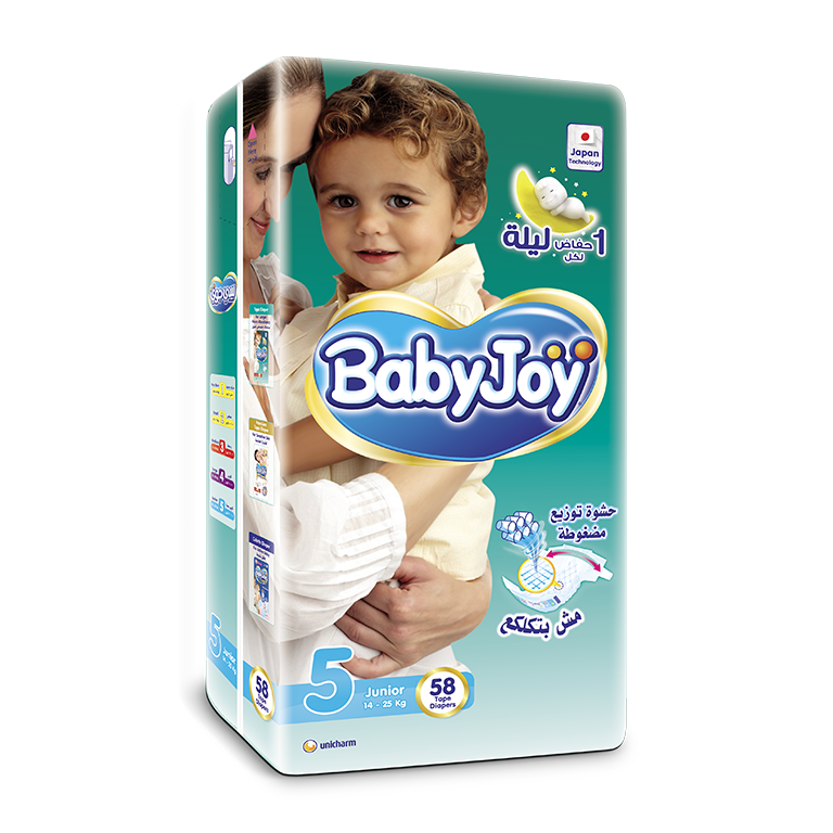 BabyJoy Tape Diaper - 5(Jr)