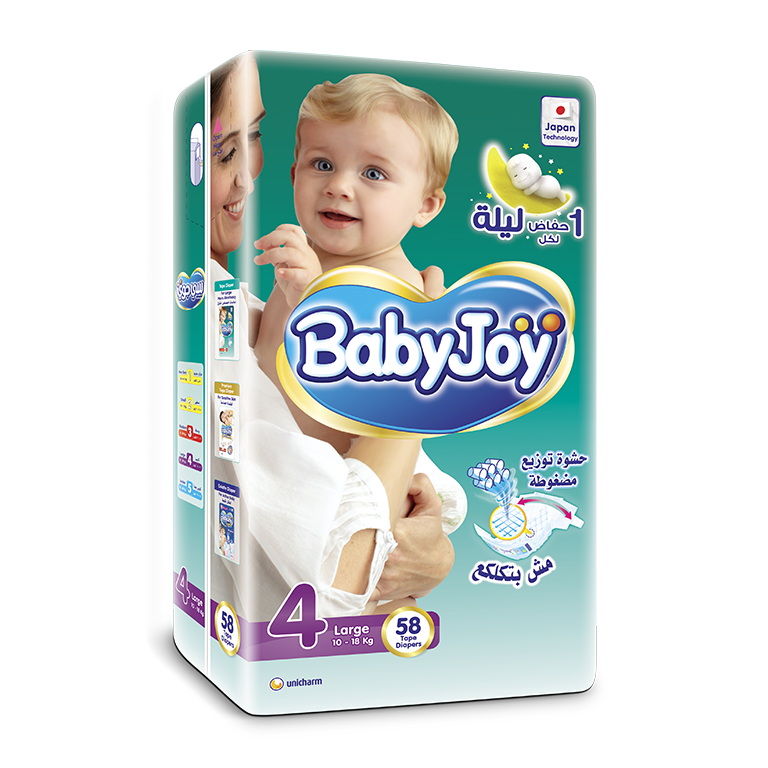 BabyJoy Tape Diaper - 4(L)
